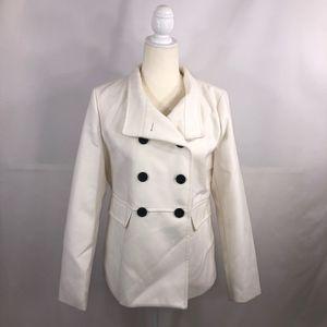 Old Navy White Soft-Brushed Peacoat Size M